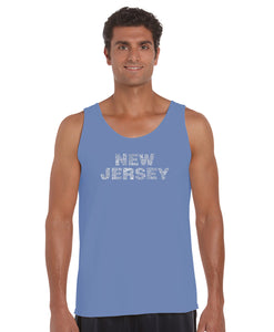 LA Pop Art Men's Word Art Tank Top - NEW JERSEY NEIGHBORHOODS
