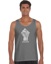 Load image into Gallery viewer, LA Pop Art Men's Word Art Tank Top - OCCUPY - FIGHT THE POWER