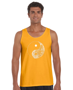 LA Pop Art Men's Word Art Tank Top - YIN YANG