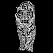 Load image into Gallery viewer, LA Pop Art Men's Premium Blend Word Art T-shirt - TIGER