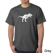 Load image into Gallery viewer, LA Pop Art Men's Word Art T-shirt - TYRANNOSAURUS REX