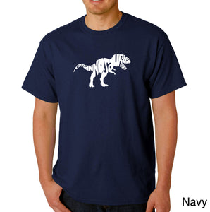 LA Pop Art Men's Word Art T-shirt - TYRANNOSAURUS REX