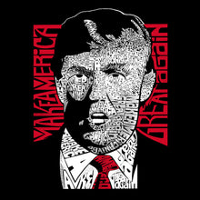 Load image into Gallery viewer, LA Pop Art Men's Word Art T-shirt - TRUMP  - Make America Great Again