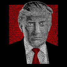 Load image into Gallery viewer, LA Pop Art Men's Word Art Long Sleeve T-shirt - TRUMP 2016 - Make America Great Again