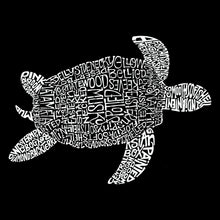 Load image into Gallery viewer, LA Pop Art Full Length Word Art Apron - Turtle