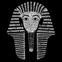 Load image into Gallery viewer, LA Pop Art Men's Word Art Long Sleeve T-shirt - KING TUT