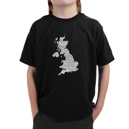 LA Pop Art Boy's Word Art T-shirt - GOD SAVE THE QUEEN
