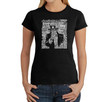 Load image into Gallery viewer, LA Pop Art Women's Word Art T-Shirt - UNCLE SAM