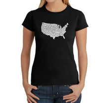 Load image into Gallery viewer, LA Pop Art Women's Word Art T-Shirt - THE STAR SPANGLED BANNER