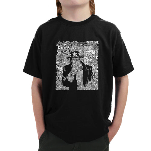 LA Pop Art Boy's Word Art T-shirt - UNCLE SAM