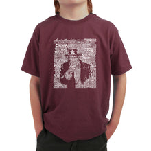 Load image into Gallery viewer, LA Pop Art Boy's Word Art T-shirt - UNCLE SAM