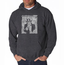 Load image into Gallery viewer, LA Pop Art Men's Word Art Hooded Sweatshirt - UNCLE SAM