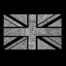 Load image into Gallery viewer, LA Pop Art Women's Dolman Word Art Shirt - UNION JACK