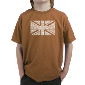 LA Pop Art Boy's Word Art T-shirt - UNION JACK