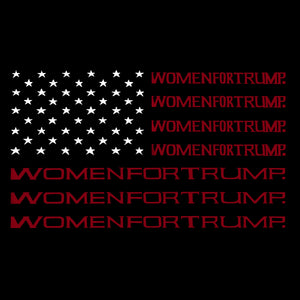 LA Pop Art Women's Word Art T-Shirt - Women For Trump