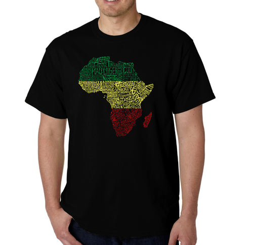 LA Pop Art Men's Word Art T-shirt - Countries in Africa