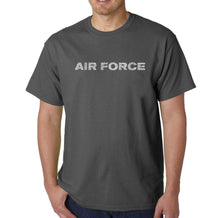 Load image into Gallery viewer, LA Pop Art Men's Word Art T-shirt - Lyrics To The Air Force Song