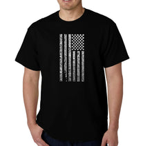 Load image into Gallery viewer, LA Pop Art Men's Word Art T-shirt - National Anthem Flag