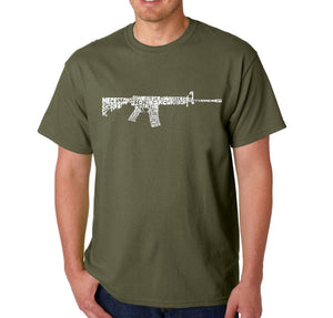 LA Pop Art Men's Word Art T-shirt - AR15 2nd Amendment Word Art