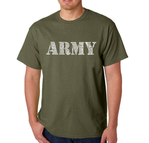 LA Pop Art Men's Word Art T-shirt - LYRICS TO THE ARMY SONG