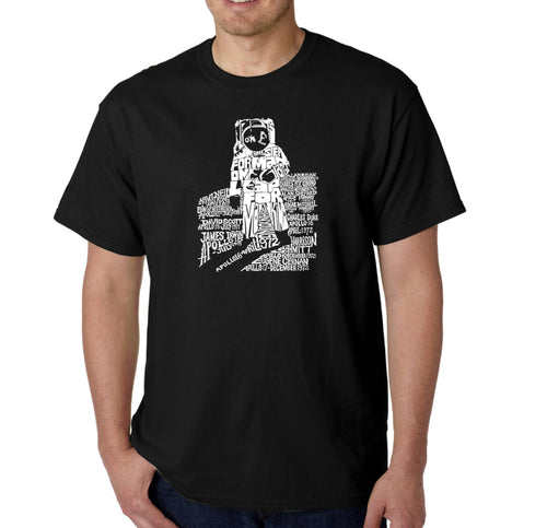 LA Pop Art Men's Word Art T-shirt - ASTRONAUT