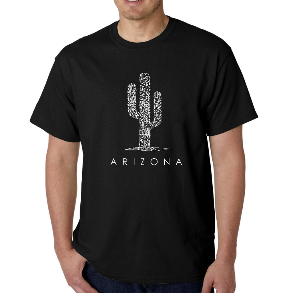 LA Pop Art  Men's Word Art T-shirt - Arizona Cities