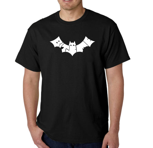 LA Pop Art Men's Word Art T-shirt - BAT - BITE ME