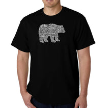 Load image into Gallery viewer, LA Pop Art Men's Word Art T-shirt - Bear Species