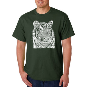 LA Pop Art  Men's Word Art T-shirt - Big Cats