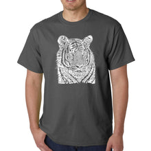 Load image into Gallery viewer, LA Pop Art  Men's Word Art T-shirt - Big Cats