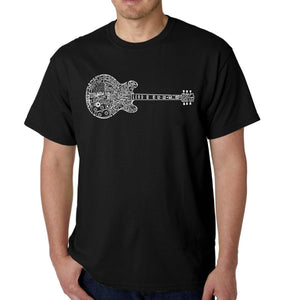 LA Pop Art  Men's Word Art T-shirt - Blues Legends