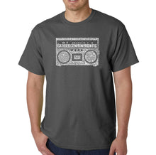 Load image into Gallery viewer, LA Pop Art Men's Word Art T-shirt - Greatest Rap Hits of The 1980's