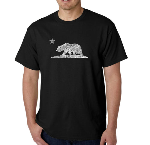 LA Pop Art Men's Word Art T-shirt - California Bear