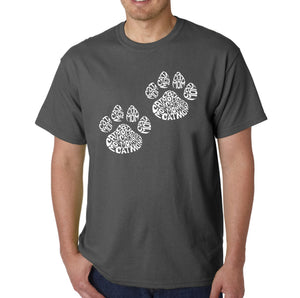 LA Pop Art Men's Word Art T-shirt - Cat Mom
