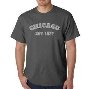 LA Pop Art Men's Word Art T-shirt - Chicago 1837