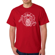 Load image into Gallery viewer, LA Pop Art Men's Word Art T-shirt - Chimpanzee