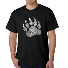 Load image into Gallery viewer, LA Pop Art  Men's Word Art T-shirt - Types of Bears