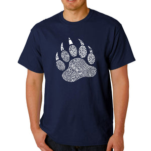 LA Pop Art  Men's Word Art T-shirt - Types of Bears