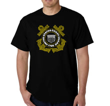 Load image into Gallery viewer, LA Pop Art Men's Word Art T-shirt - Coast Guard