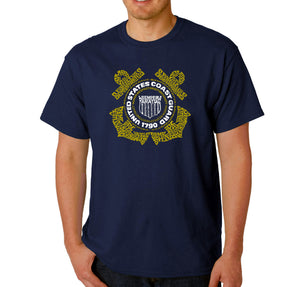LA Pop Art Men's Word Art T-shirt - Coast Guard