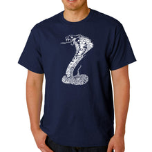 Load image into Gallery viewer, LA Pop Art  Men's Word Art T-shirt - Tyles of Snakes