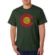 Load image into Gallery viewer, LA Pop Art Men's Word Art T-shirt - Colorado