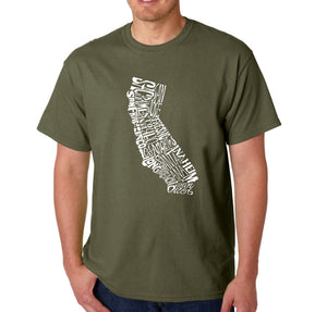 LA Pop Art  Men's Word Art T-shirt - California State