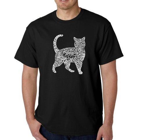 LA Pop Art Men's Word Art T-shirt - Cat