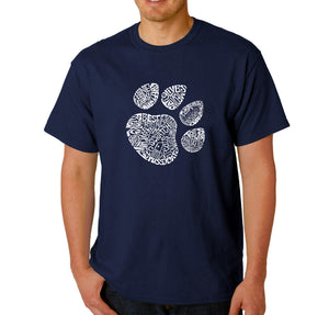 LA Pop Art  Men's Word Art T-shirt - Cat Paw