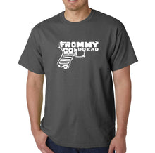 Load image into Gallery viewer, LA Pop Art  Men's Word Art T-shirt - Out of My cold Dead Hands Gun