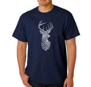 LA Pop Art Men's Word Art T-shirt - Types of Deer