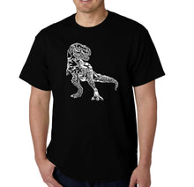 Load image into Gallery viewer, LA Pop Art Men's Word Art T-shirt - Dino Pics