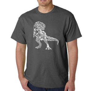 LA Pop Art Men's Word Art T-shirt - Dino Pics