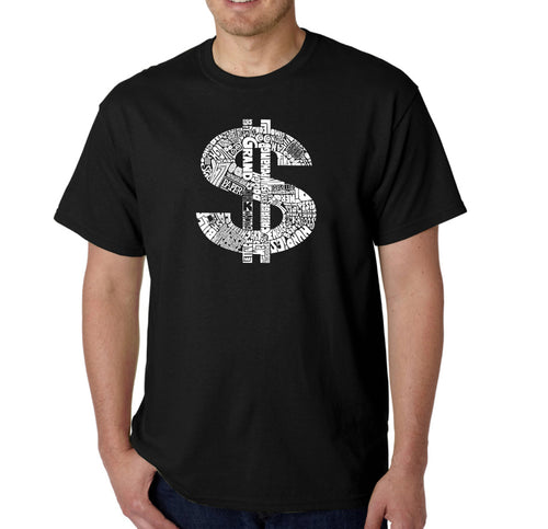 LA Pop Art Men's Word Art T-shirt - Dollar Sign